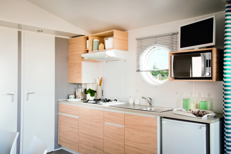 Cuisine mobilhome 2 chambres